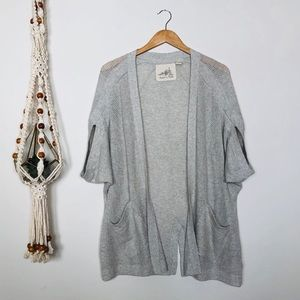 Anthro. Angel of the North Grey Cardigan Size M